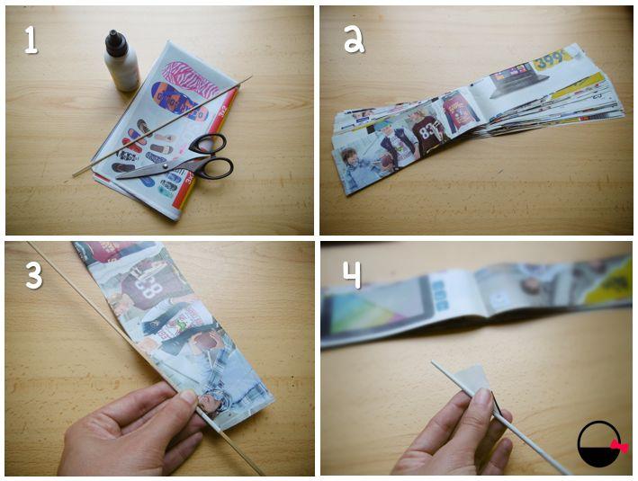 Cómo hacer tubitos de papel