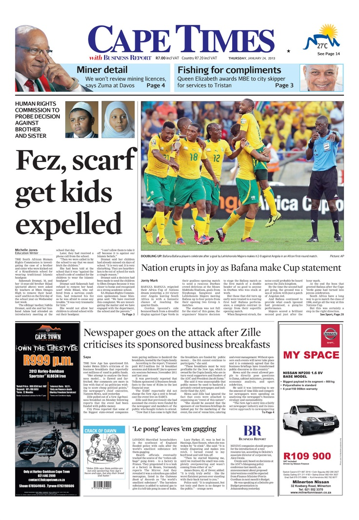 News making headlines: Fez, scarf gets kids expelled