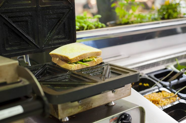 Our jaffles are made fresh to order. From our jaffle press to your mouth.
