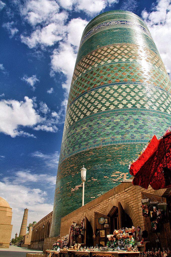 Kalta Minor Minaret in Khiva, Uzbekistan