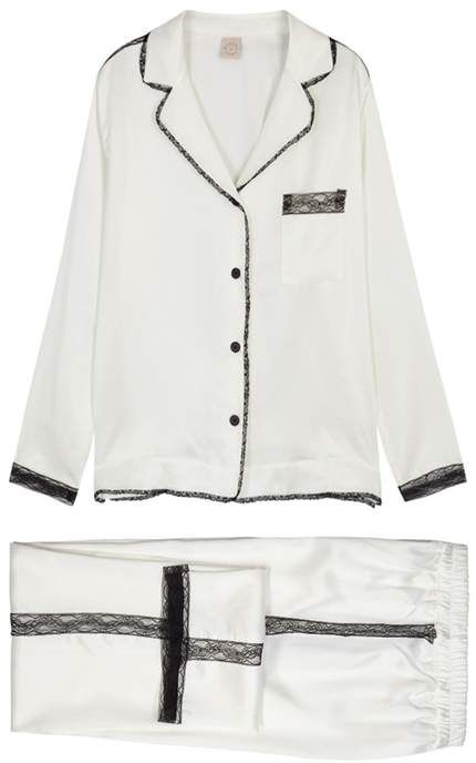 Morpho + Luna Ines Lace-trimmed Washed Silk Pyjama Set  ce4f9344b