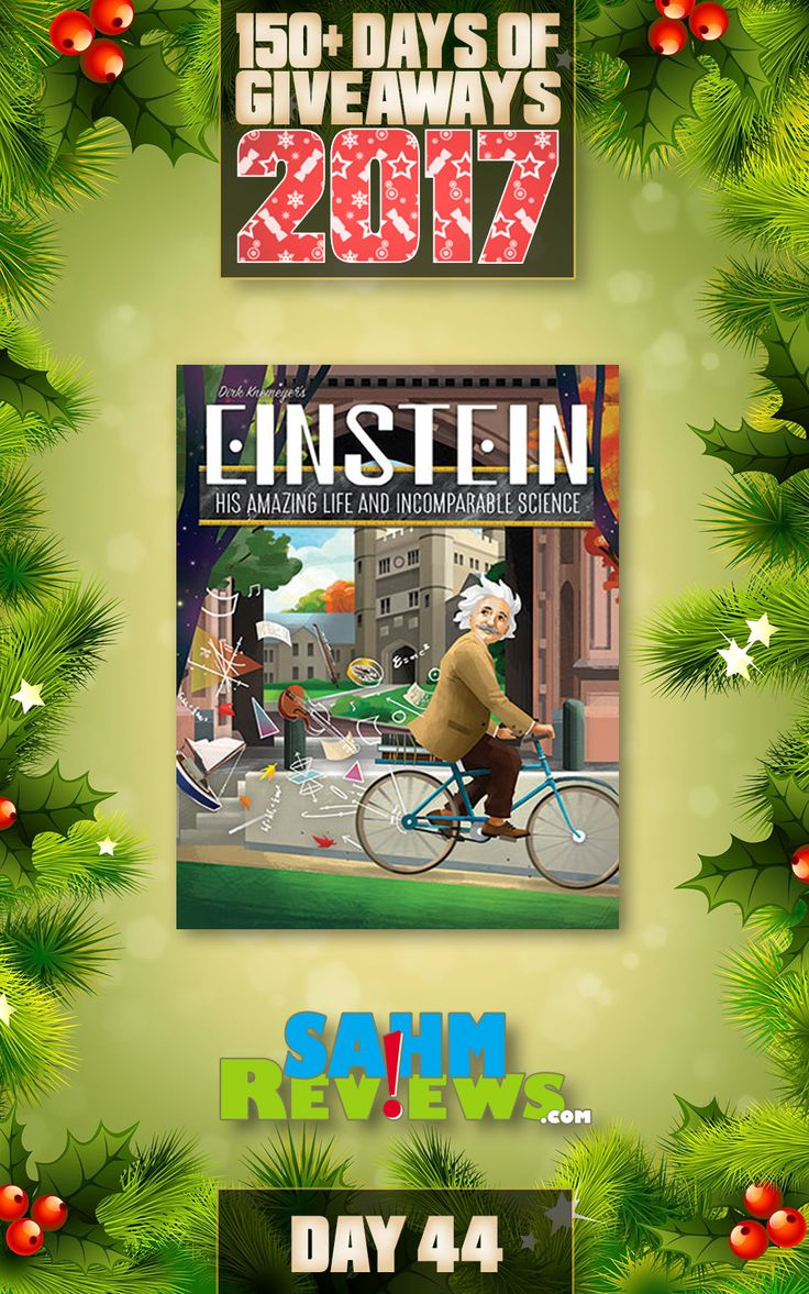 We're excited to be offering 150+ Days of Giveaways in conjunction with our Holiday Gift Guides.   One lucky SahmReviews.com winner will receive a copy Einstein from Artana Games (ARV $22)!