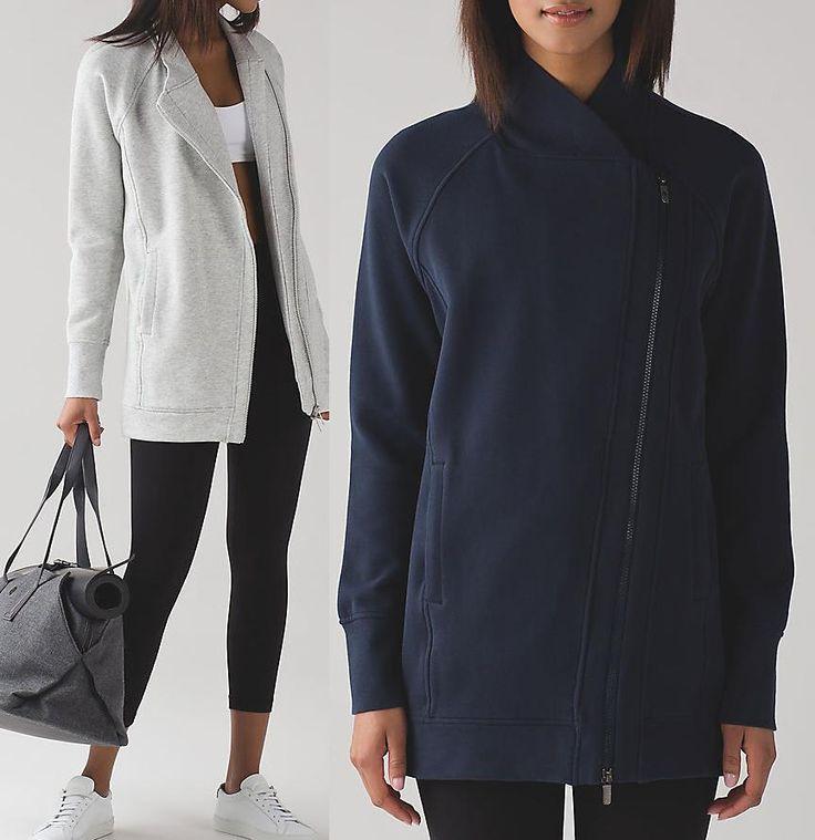 LULULEMON ATHLETICA Back To It Wrap Fleece Jacket Inkwell Faded Blue , Vapor NWT #Lululemon #CoatsJackets
