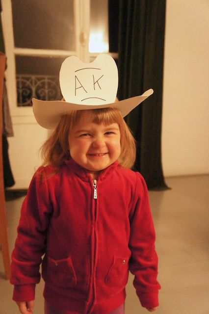 Cowboy Hat Craft made out of foam or cardstock paper #Teddy Roosevelt