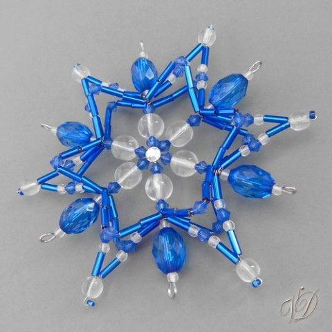 Korálková vánoční hvězda 068 dekorace originální lesklá ozdoby vánoce dekorativní vánoční dekorační krásná luxusní třpytivá luxus korálková originál zdobená korálkové skleněná zdobené vločka ruční práce ozdobičky ozodoba