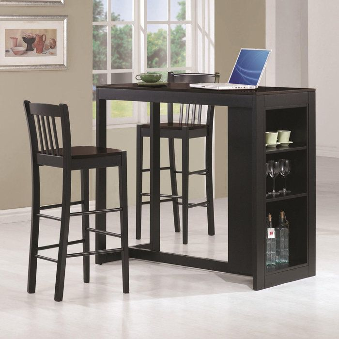 Coaster Bar Units And Bar Tables 3 Piece Pub Table Set   Coaster Fine  Furniture