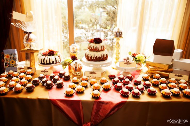 best wedding cake bakery in houston bundt cake dessert table by nothing bundt cakes featured 11418