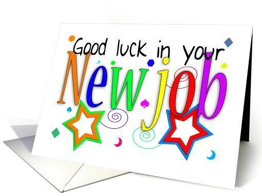 9 best Job related images on Pinterest Good luck for you, Good - good luck card template