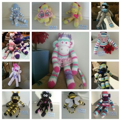 Sock Monkey's...check them out at www.facebook.com/bdmadebyme :)