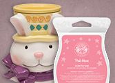 Easter Bunny & Pink Haze scent & warmer of the Month February 2015