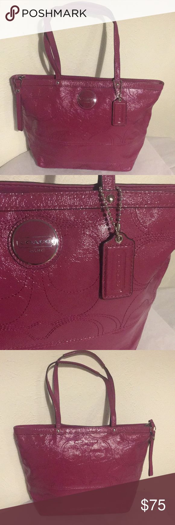 """NWOT Pink Coach Purse NWOT Authentic pink Coach purse in new condition! No scratches or stains, measurements are 10""""x 13.5"""" with a 9"""" handle drop overall in extremely new condition, open to offers! Coach Bags Shoulder Bags"""