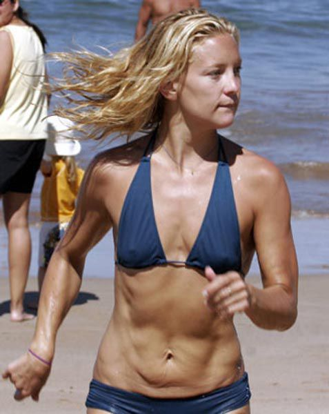 Kate Hudson without photoshop and before plastic surgery