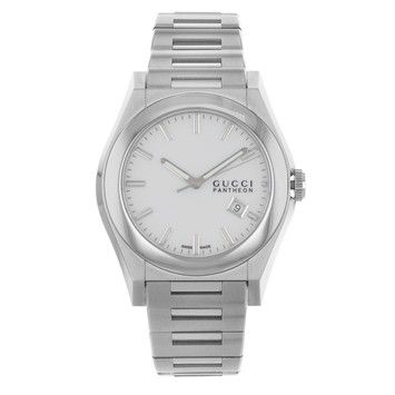 Gucci 115 Pantheon YA115210 Stainelss Steel Quartz Men's Watch. Get the lowest price on Gucci 115 Pantheon YA115210 Stainelss Steel Quartz Men's Watch and other fabulous designer clothing and accessories! Shop Tradesy now