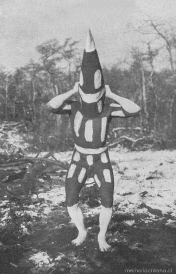 Mátan, espíritu del Klóketen Selk'nam, hacia 1920