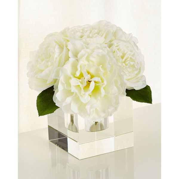John-Richard Collection Crown Jewels Faux-Floral Arrangement (19.480 RUB) ❤ liked on Polyvore featuring home, home decor, floral decor, white, white artificial flowers, white silk flowers, white home decor, white fake flowers and handmade home decor
