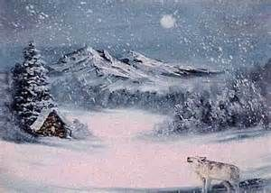 Winter Snow With Wolf