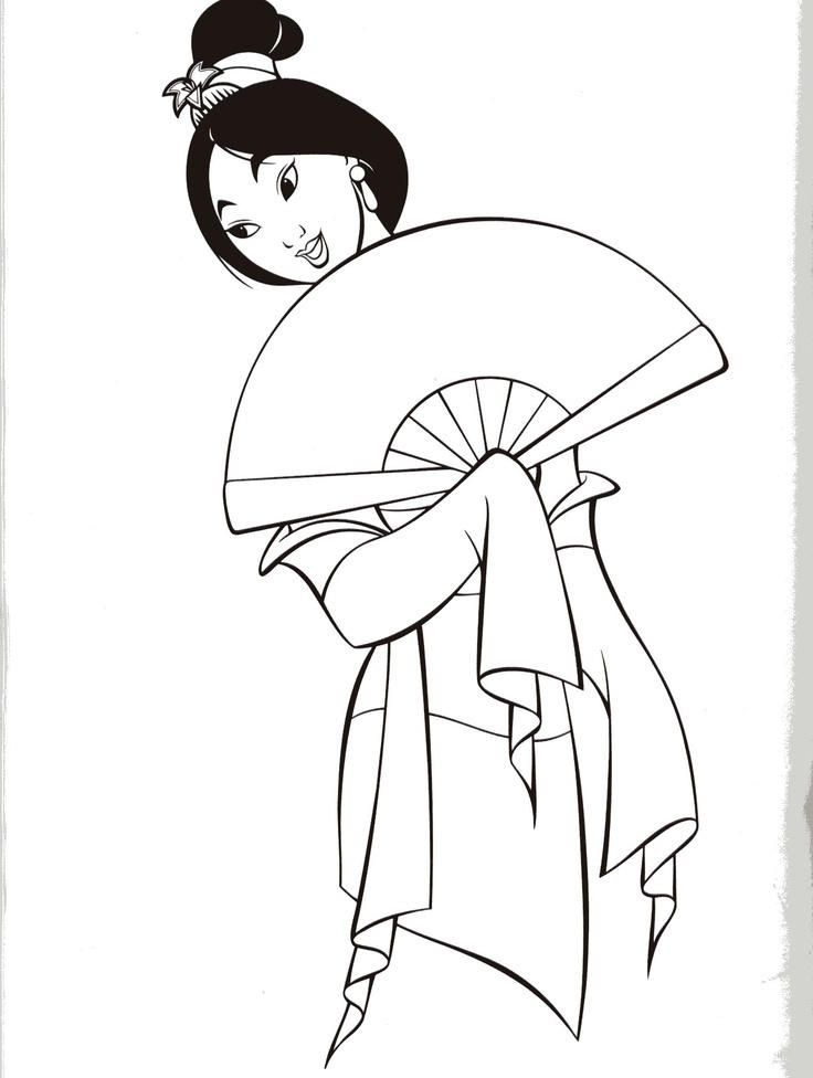 Lovely Mulan Dress Coloring Pages Disney Princess Coloring Pages Princess Coloring Pages Disney Coloring Pages