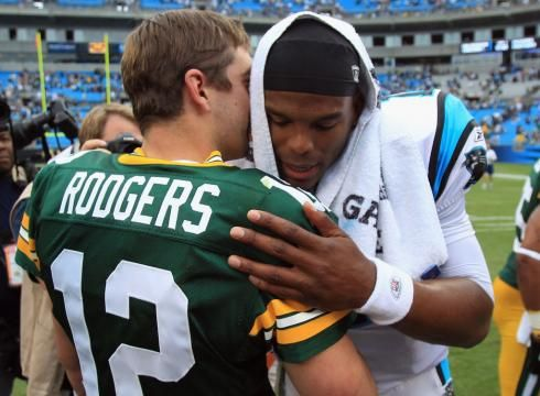 Early Bird Breakdown Week 7: Carolina Panthers @ Green Bay Packers - http://packerstalk.com/2014/10/19/early-bird-breakdown-week-7/ http://packerstalk.com/wp-content/uploads/2014/10/NewtonRodgers.jpg
