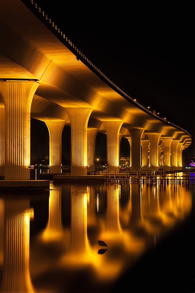 ROOSEVELT BRIDGE in Stuart, Florida: Photos, Reflection, Roosevelt Bridges, Night Lights, Beautiful, Places, Architecture, Photography, Stuart Florida