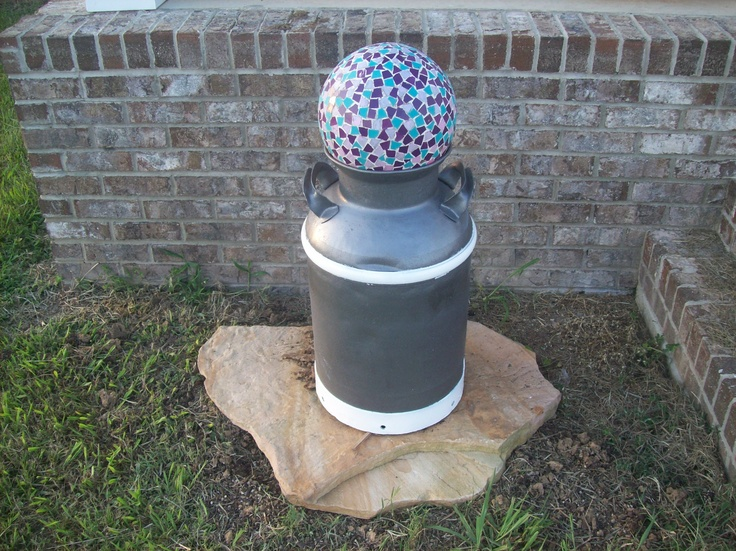 90 best milk can repurpose images on pinterest milk cans for Repurposed milk cans