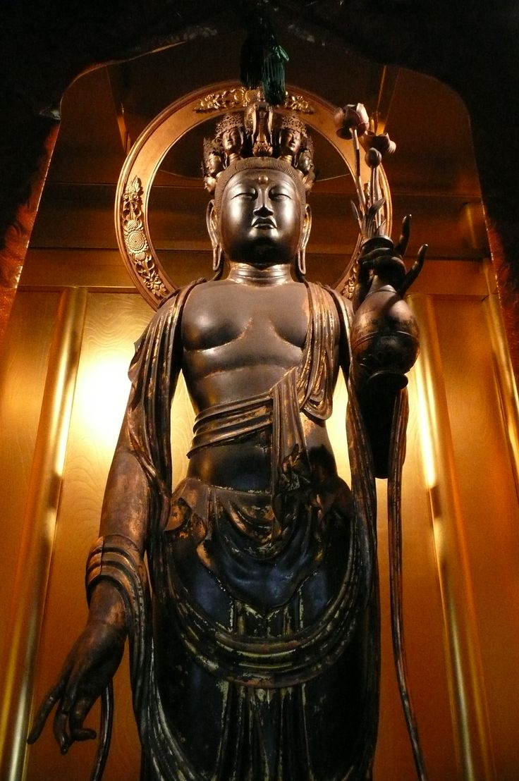 Japanese National Treasure, Statue of eleven-faced Kannon Bosatsu 十一面観音菩薩(普賢寺)