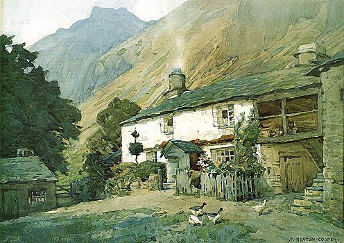 The Bield, Little Langdale (loose print)  by Alfred Heaton Cooper