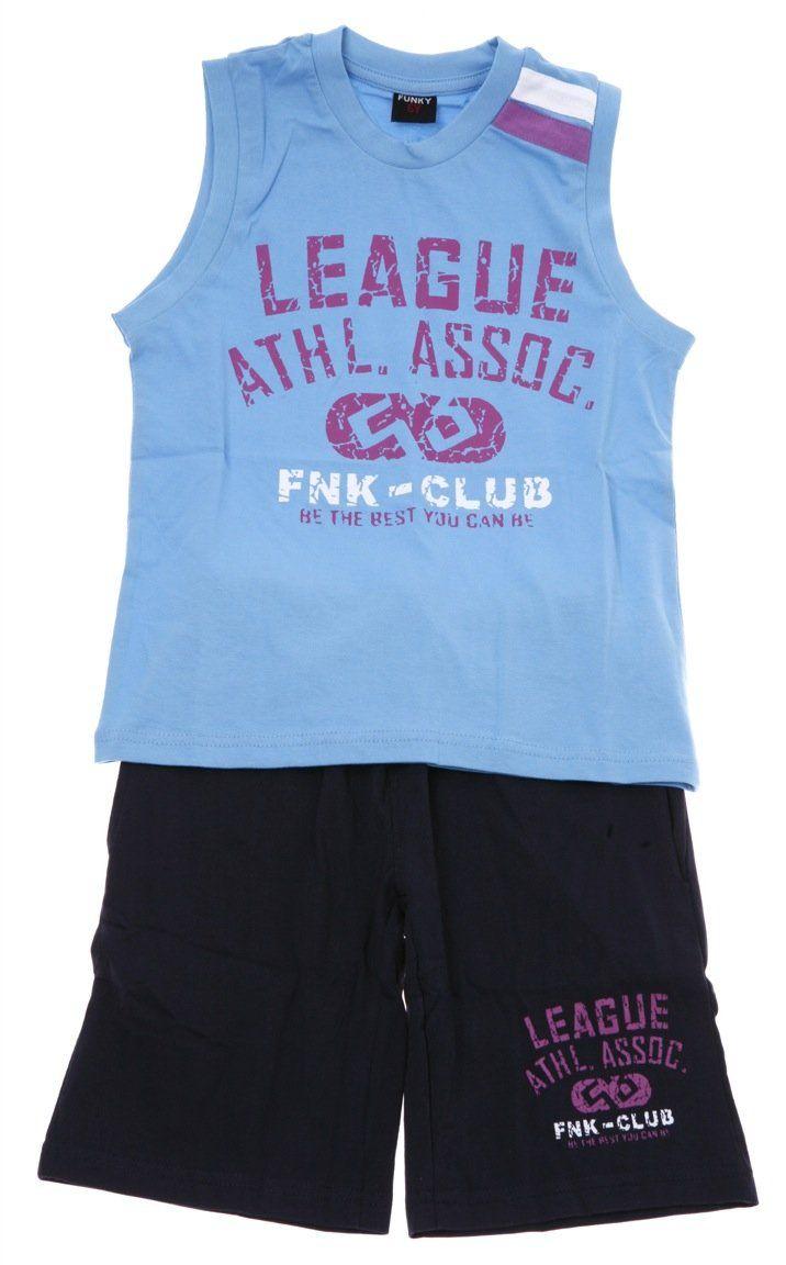 Παιδικά ρούχα AZshop.gr - Funky παιδικό σετ μπλούζα-παντελόνι βερμούδα «League» €12,90