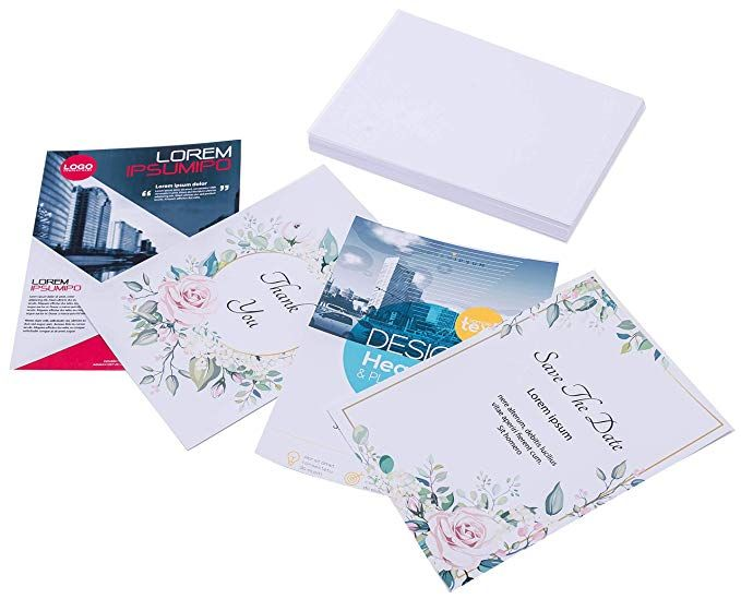 Printerry White Cardstock Paper 5 X 7 Inches 50 Sheets 80lb Cover 220gsm Blank Review Cardstock Paper Card Stock Paper