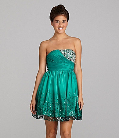 Inspire Me Strapless Sequin Dress | Dillards.com