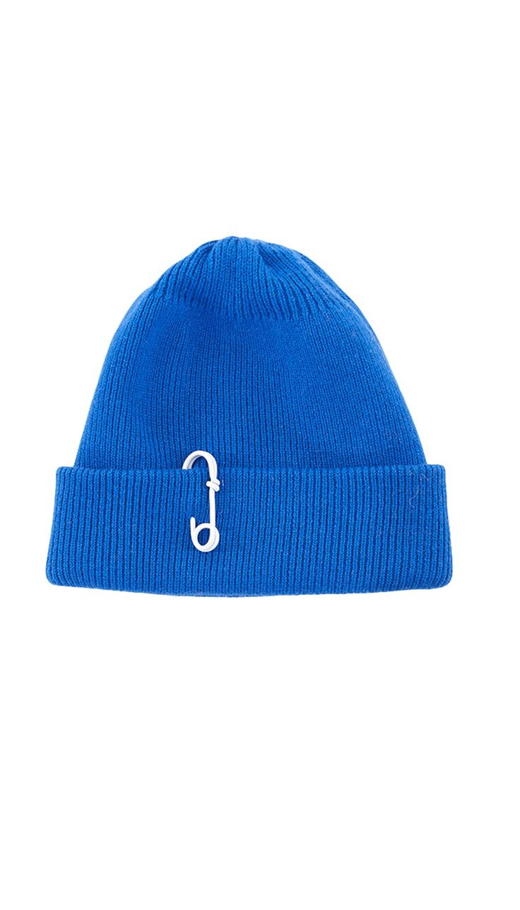 Tibi - Cashmere Wool Beanie with Pin Detail
