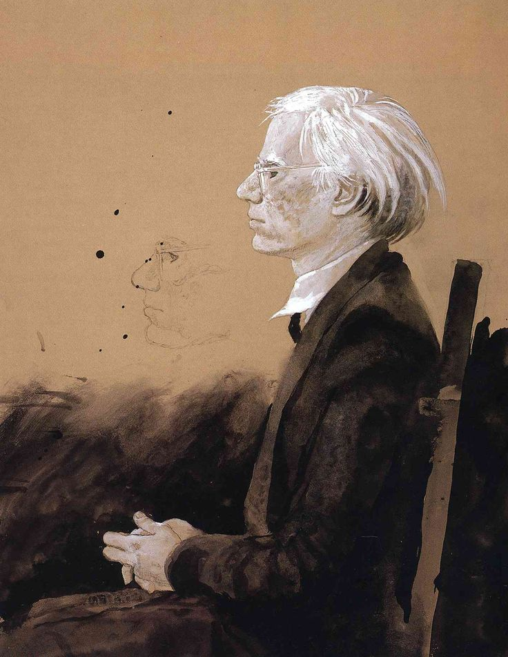 Andy Warhol - Facing Left - Jamie Wyeth - WikiArt.org