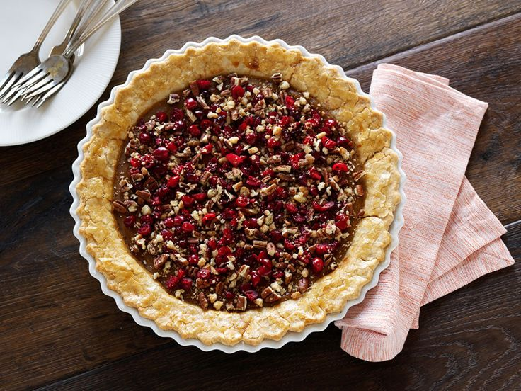 Sweet Potato Pie with Crunchy Cranberry Topping recipe from Tyler Florence via Food Network