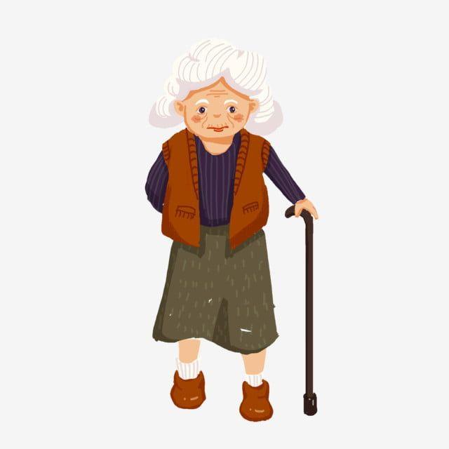Double Ninth Festival Old Man Grandma Old Man Grandma Old Man Clipart Illustrator Character Character Illustration Png Transparent Clipart Image And Psd File Old Lady Cartoon Old Man Cartoon Man Illustration