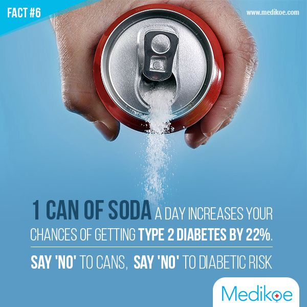 Say 'No' to Cans Say 'No' to Diabetic Risk #HealthyFact #HealthyLiving #Medikoe