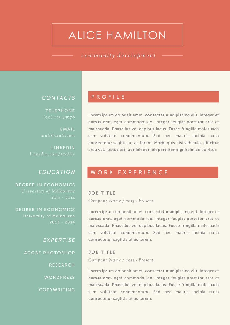 17 best images about professional resume templates word