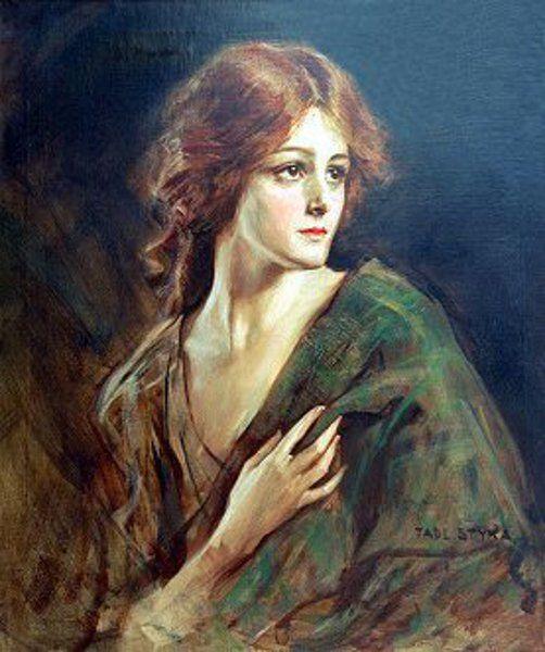 Portrait Of A Woman by Tade Styka