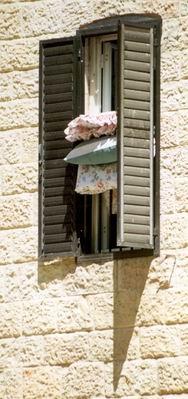 window, jerusalem.