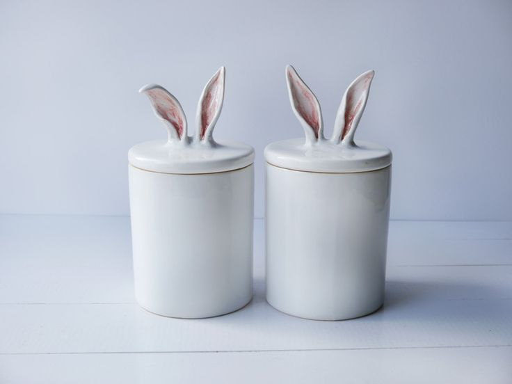 Other – Containers with rabbit ears – a unique product by bordo_ceramika on DaWanda