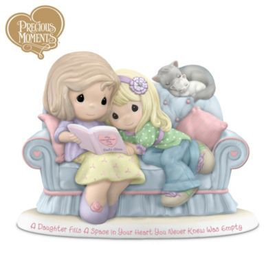 Precious Moments Figurine: A Daughter Fills A Space In Your Heart You Never Knew Was Empty