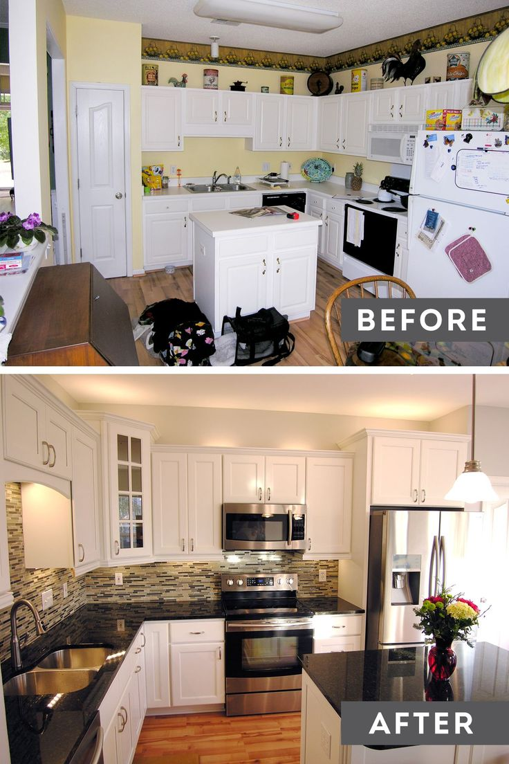 Beautiful kitchen before and after master 39 s men for Kitchen cupboard makeover before and after