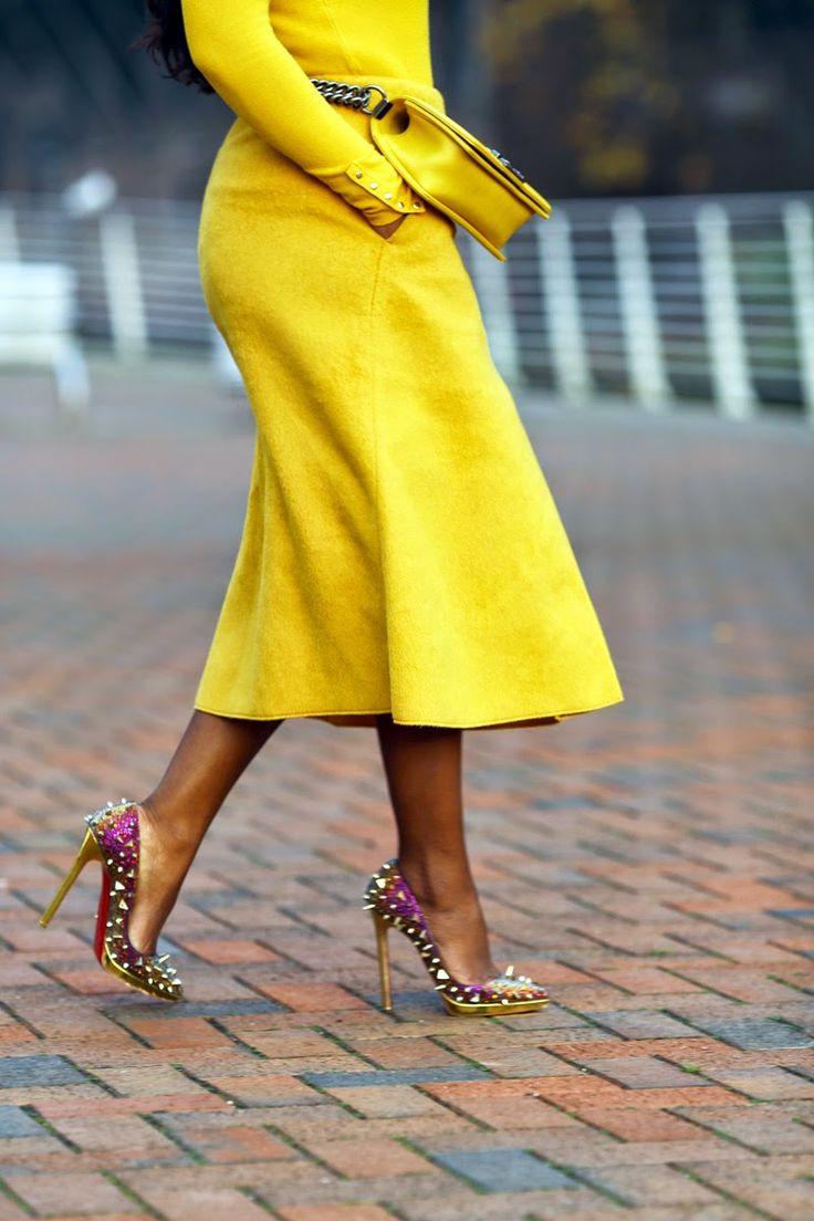 Zara sweeter Cos skirt (D36) Chanel boy bag Christian Louboutin Pigalili Plato shoes Zara Coat