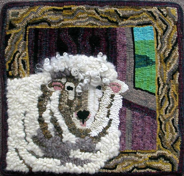 1000+ Images About Rug Hooking - Sheep On Pinterest