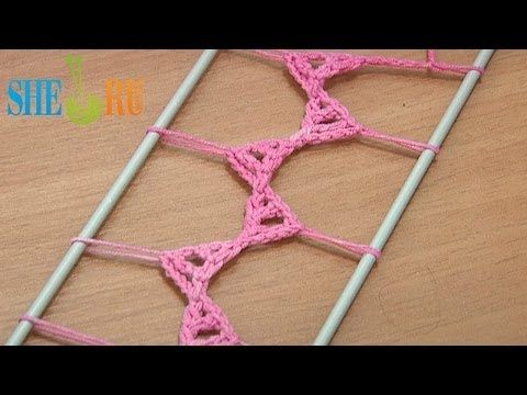 Hairpin Lace Strip Tutorial 20 Triangle Elements In The Middle - YouTube. buonaidea per chiudere.