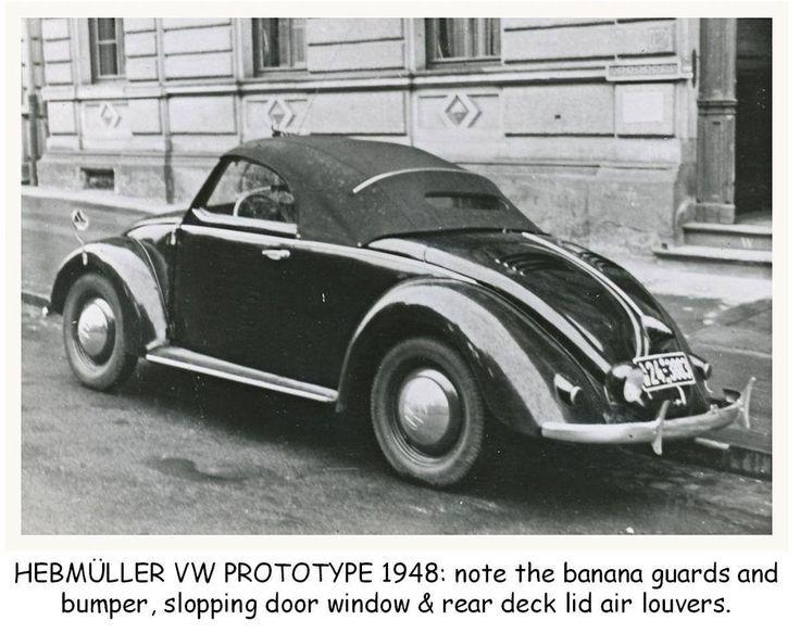 1948 volkswagen roadster prototype by karosseriewerke joseph hebm ller s hne of wuppertal. Black Bedroom Furniture Sets. Home Design Ideas