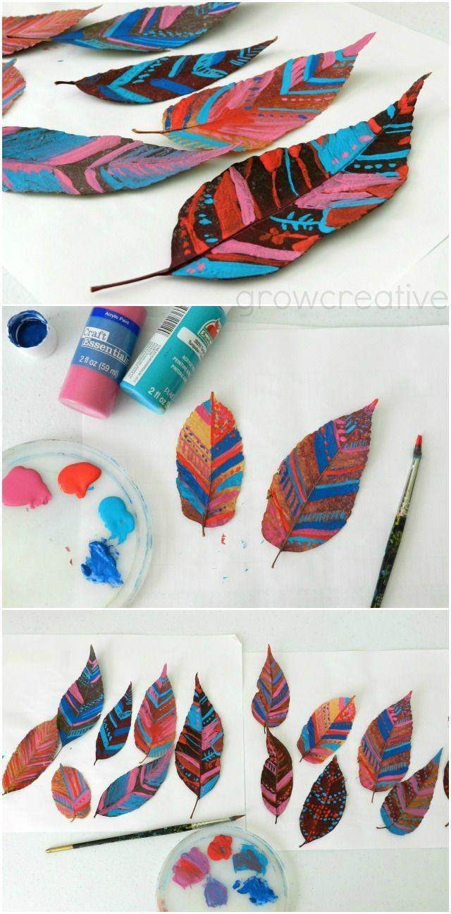 Pintado de las hojas del Tribal Designs: Grow creativo