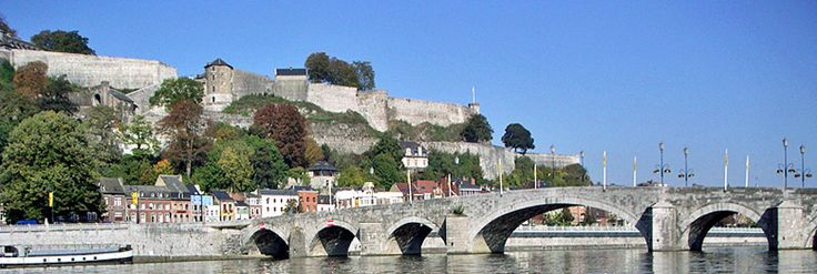 Panorama of the citadel of Namur from Jambes
