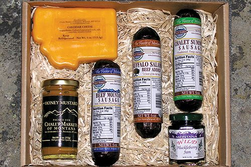 Naturally Montana Gift Box! One of our most popular gift boxes!  Sausage, cheese, mustard and jam.  Yum!
