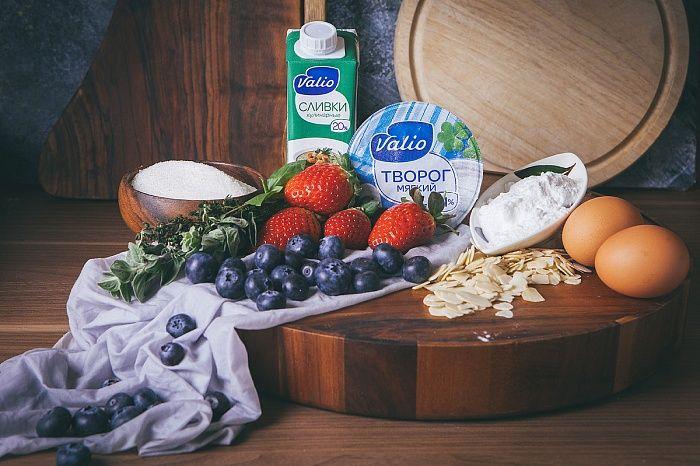 Творожный пудинг с ягодами - пошаговый рецепт приготовления с фото