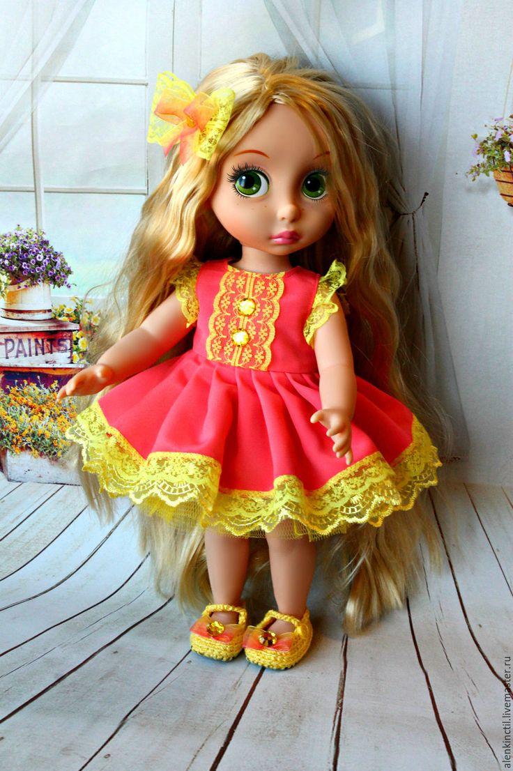 Купить Комплект для кукол Дисней. - коралловый, желтый, одежда для кукол, для кукол дисней, дисней