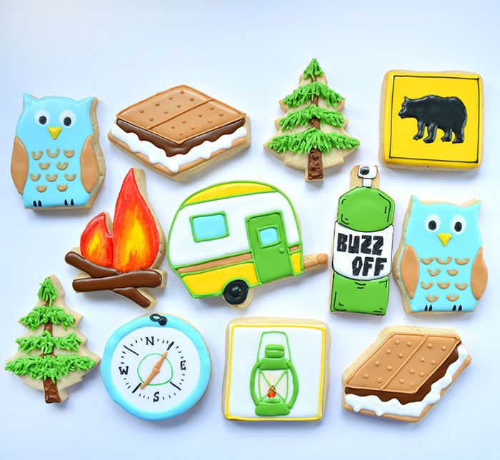 Southern Blue Celebrations: CAMPING THEMED CAKES, CUPCAKES, & COOKIES